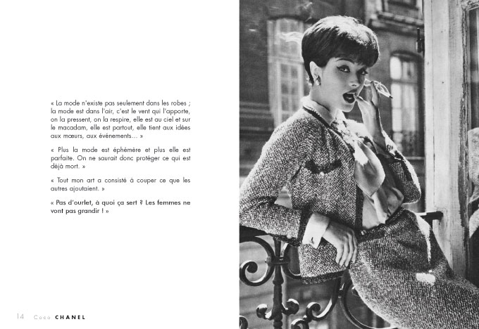 Coco Chanel, citations   Editions du Palais 96da33c18aa